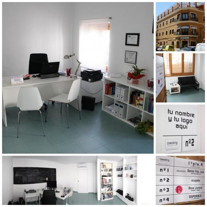 Despachos, fachada y rótulos del Coworking by Alqumista de Ideas